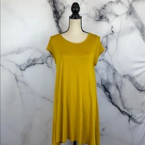 PINC yellow short sleeve t shirt dress size XL
